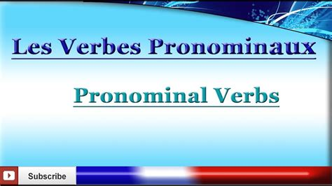 learn french pronominal verbs reflexive  reciprocal