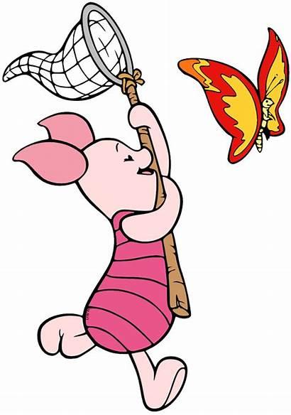 Piglet Butterfly Disneyclips Clip Springtime Chasing Disney