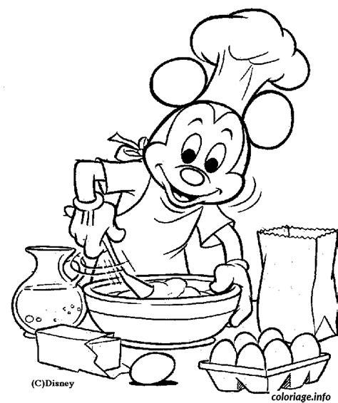 dessin de cuisine à imprimer coloriage mickey cuisine dessin