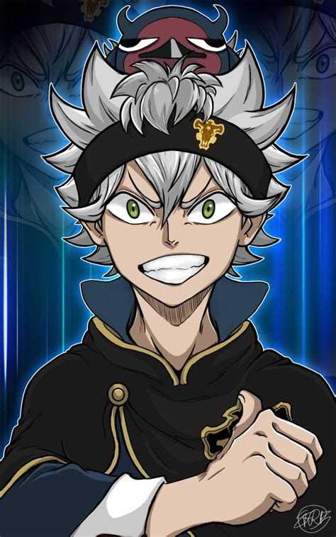 asta nero black clover black cover wallpaper de