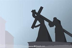 The Crucifixion black silhouettes Vector | Free Download