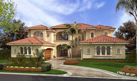 luxury mediterranean style aa architectural designs house plans