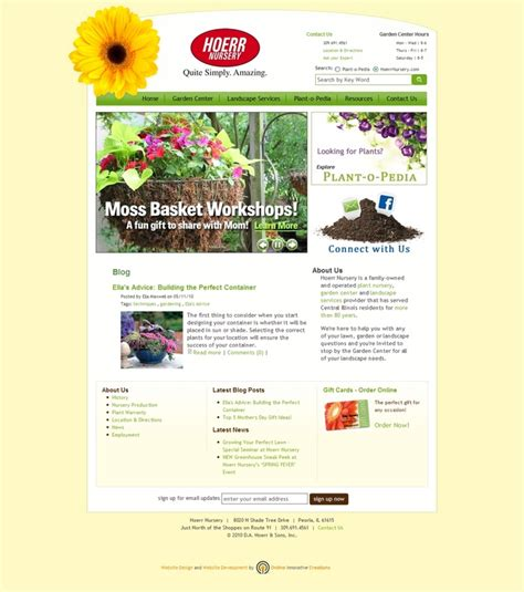 garden design websites lawn and garden web design peoria il hoerr nursery