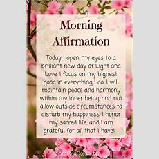 The 25+ Best Morning Affirmations Ideas On Pinterest  Miracle Morning Affirmations