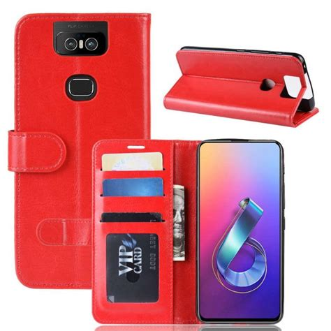 asus zenfone 6 zs630kl flip folio wallet with id and credit card pockets free