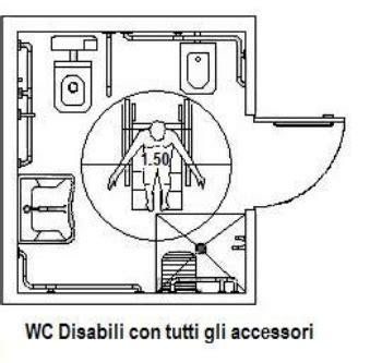 Dimensione Sedia A Rotelle by Wc Per Disabili Da Realizzare In Alloggi Privati Regole