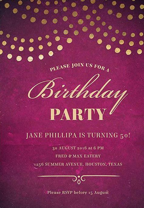 birthday invitation format templates word psd ai