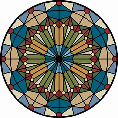 Stained Glass Window Clipart Rose Church Clip