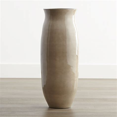 hewett tall ceramic floor vase crate  barrel
