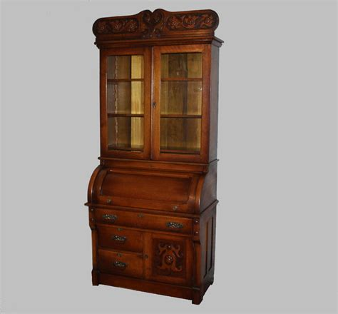 antique secretary desk with bookcase antique oak cylinder secretary desk bookcase ebay