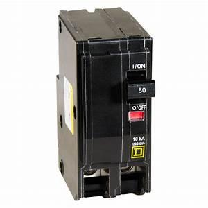 Square D Qo 80 Amp 2-pole Circuit Breaker-qo280cp