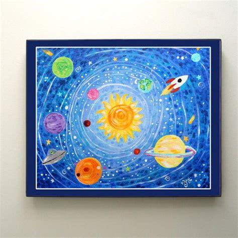 prints  kids solar system  print kids room nursery