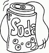 Coke Drawing Coloring Soda Pages Getdrawings sketch template