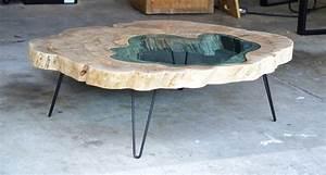 Table Verre Bois : table bois verre riviere 04 la boite verte ~ Teatrodelosmanantiales.com Idées de Décoration