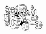 Coloring Farm Pages Animal Tractor Funny Drawing Printables Printable Trailer Sheets Children Barn Wuppsy Dog Animals Colouring Zoo Outline Drawings sketch template