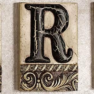 Alphabet tile plaque letter r touch of class for Letter plaques