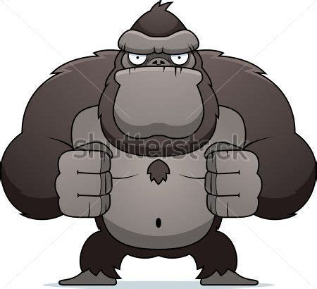 angry cartoon gorilla flexing  muscles projects