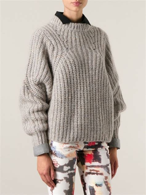 marant sweater marant neck sweater in beige neutrals