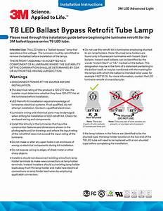 T8 Led Ballast Bypass Retrofit Tube Lamp