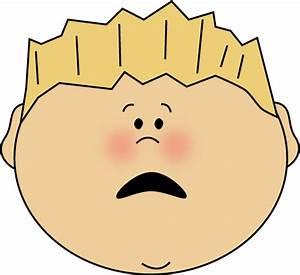 Scared Face Boy Clip Art - Scared Face Boy Image