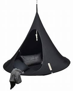 Fauteuil Suspendu Noir : fauteuil suspendu cacoon noir h 150 x 180 made in design ~ Teatrodelosmanantiales.com Idées de Décoration