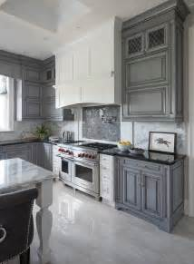 Stainless Steel Kitchen Island With Butcher Block Top White Kitchen With Gray Mosaic Cooktop Gray Kitchen Cabinets Arrivea Live