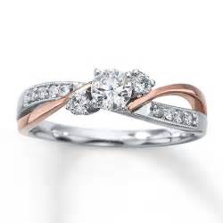 two engagement rings two toned gold ring 7 stunning gold engagement