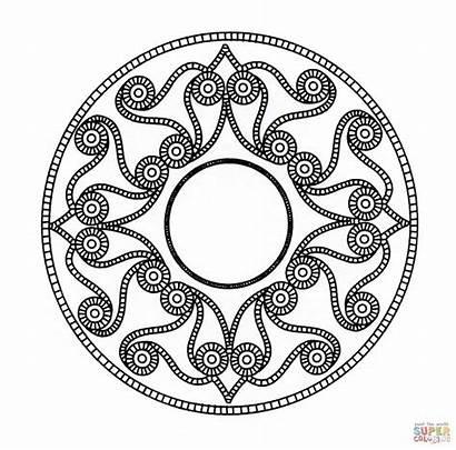 Celtic Coloring Pages Mandala Printable Kells Designs