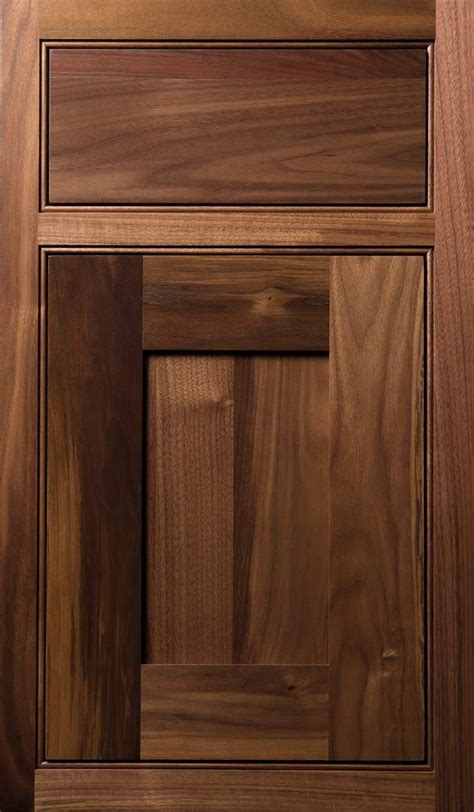 quaker  door   walnut natural finish  wood