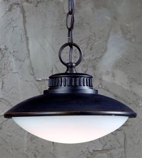 mariner 1 light bronze led outdoor pendant light