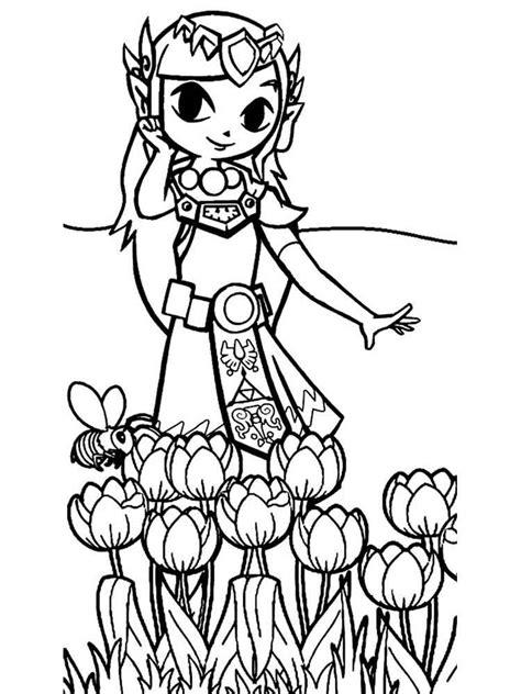 zelda coloring pages  printable zelda coloring pages