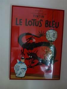 Le Lotus Bleu Levallois : tintin affiche le lotus bleu catawiki ~ Gottalentnigeria.com Avis de Voitures