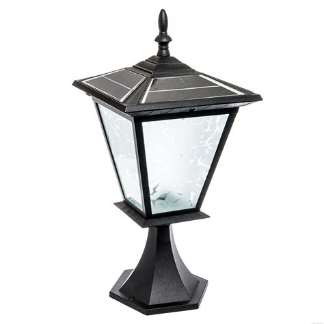 solar led outdoor l post reusable revolution 3 led solar outdoor garden post cap
