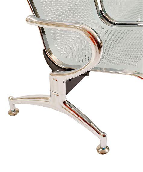 poltrone da studio panca a 4 posti sedie sala d attesa in acciaio ospite