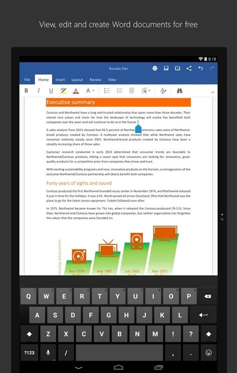 word for android microsoft word for tablet 187 apk thing android apps free