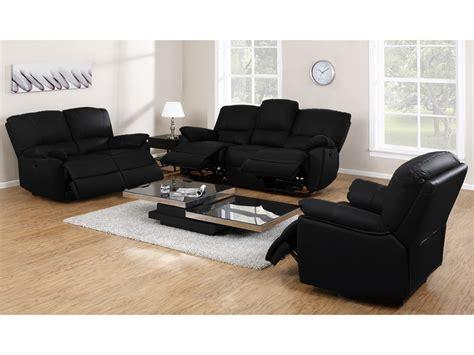 canapé et fauteuil canapé fauteuil relax cuir noir ivoire ou chocolat marcis