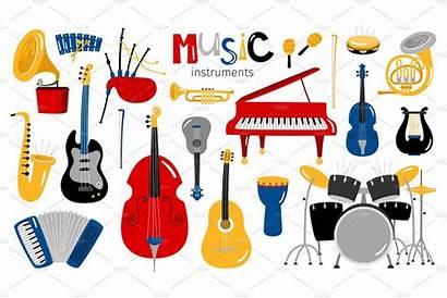 Instruments Cartoon Musical Instrument Creativemarket Jazz Pre