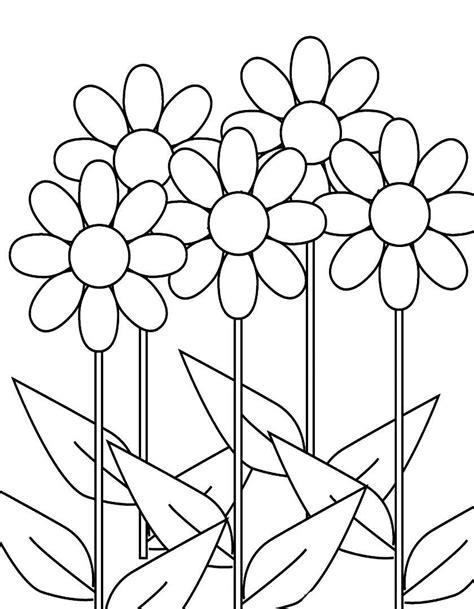 immagini di fiori da stare gratis disegni da colorare fiori margherite migliori pagine da