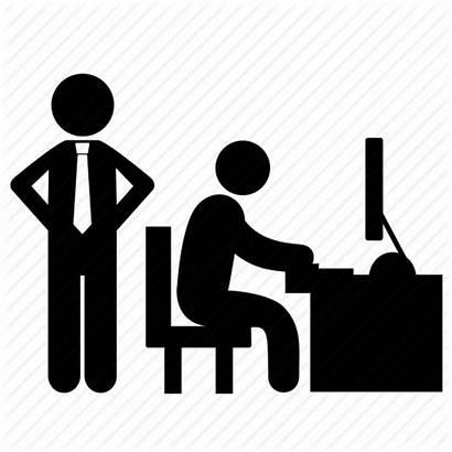 Icon Working Hard Icons Control Boss Hardworking
