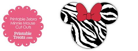 printable zebra minnie mouse head