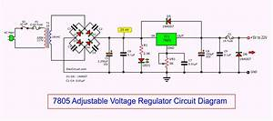 7805 Adjustable Voltage Regulator Circuit