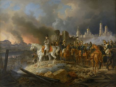 siege napoleon napoleon and his grand armée leave the burning city of