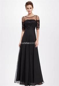 robe de soiree mi longue en mousseline robes de mode With robe mi longue soirée