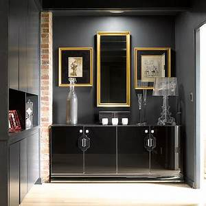 black cabinet design decor photos pictures ideas With kitchen cabinets lowes with foyer wall art