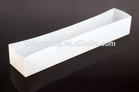 white color thin long loaf bar silicone soap molds