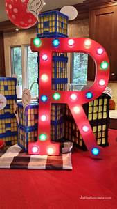 super hero party destination create With giant marquee letters hobby lobby