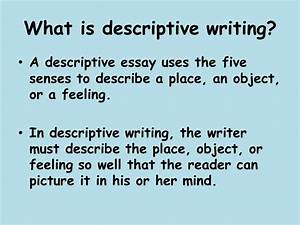 Essay On Rainy Day Descriptive Essays Examples On Place Mba Application Essay Samples also Conclusion Of A Compare And Contrast Essay Descriptive Essays Examples On Place Structure Of Essay Descriptive  Argumentative Essay On The Death Penalty