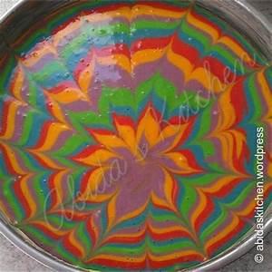 Selbstgemachter Regenbogen Kuchen (4 2/5)