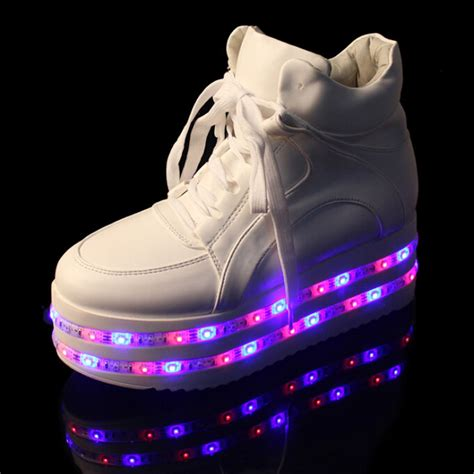 led light up shoes in stores new yeezy double layer led light up shoes for women