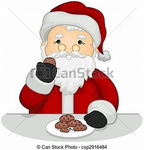 Santa Cookies And Milk Clip Art (71+)